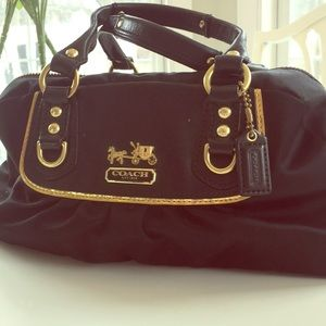 Coach Amanda satin mini satchel